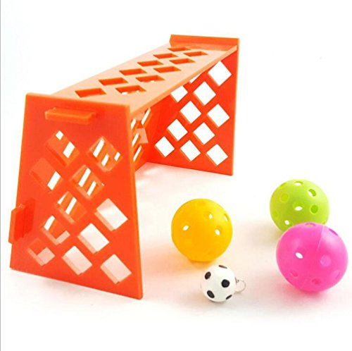 WWQY Parrot Puzzle Training Intellectual Development of Toys Mini Football Stadium Parrot Desktop Toys with 4Hollow Ball