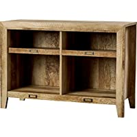 Rustic Oak TV Stand Farmhouse Style for Your Entertainment Space Country-Inspired in Oak Brown Finish