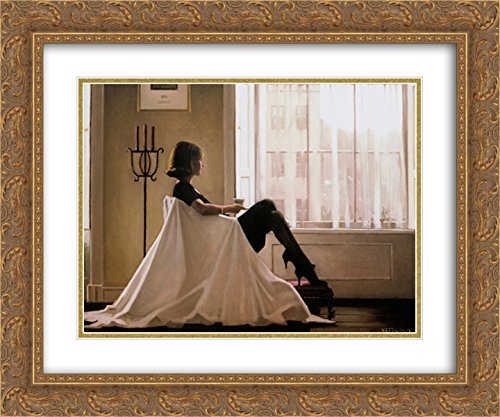 (in Thoughts of You 2X Matted 24x20 Gold Ornate Framed Art Print by Jack Vettriano)