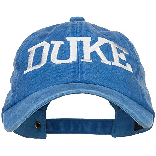Duke Halloween Character Embroidered Dyed Unstructured Cap - Royal OSFM Duke Blue Devils Hat Cap