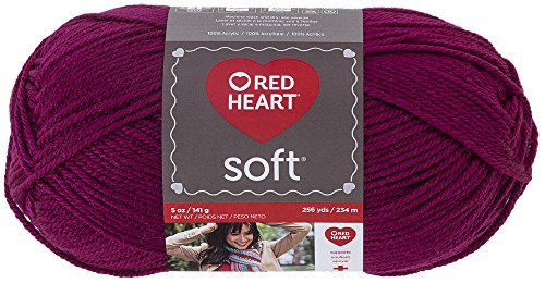 (RED HEART Soft Yarn, Berry)