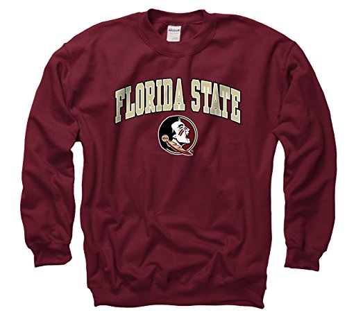 - Campus Colors Florida State Seminoles Adult Arch & Logo Gameday Crewneck Sweatshirt - Garnet, XX-Large