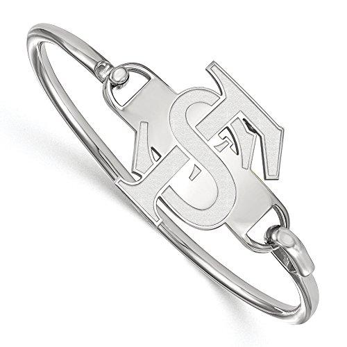 NCAA Sterling Silver Florida State University 'FSU' Bangle, 8 inch by LogoArt