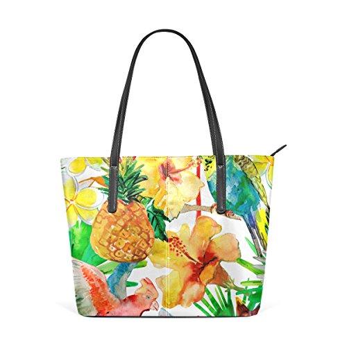 COOSUN Patrón sensación de verano hombro bolso de cuero del monedero y bolsos de la bolsa de asas para las mujeres Medio muticolour