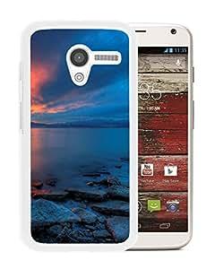 New Beautiful Custom Designed Cover Case For Motorola Moto X With Utah Lake Sunset (2) Phone Case
