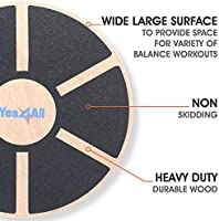 """Wooden Wobble Balance Board Exercise Durable Stability Trainer 15.75/"""" Diameter"""