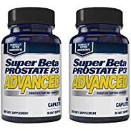 Super Beta Prostate P3 Advanced Prostate Supplement for Men – Reduce Bathroom Trips, Promote Sleep, Support Urinary Health & Bladder Emptying. Beta-Sitosterol, not Saw Palmetto. (120 Caplets, 2-Pack)