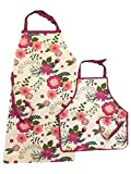 Bell & Curfew Mother and Child Floral Print Baking Aprons - 2 Pack Bundle