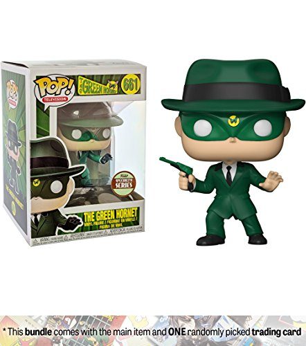 Funko Green Hornet (Specialty Series): Green Hornet x POP! TV Vinyl Figure + 1 American TV Themed Trading Card Bundle [#661 / (Green Hornet Mask And Hat)