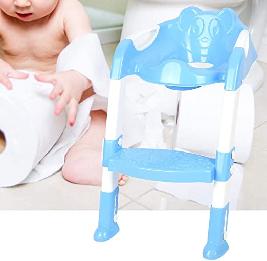 SOULONG Escalera de Inodoro para Niños Plegable Reductor WC con Escalera Ajustable para Niños Antideslizante para Bebés Niños Pequeños 1-7 Años: Amazon.es: Hogar