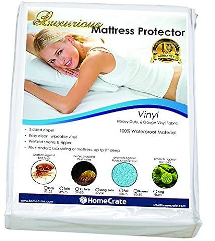 HomeCrate Natural Sleep Defence - Heavy Duty Deluxe Waterproof/Bed Bug Proof Vinyl 78