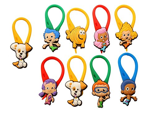 AVIRGO 9 pcs Colorful Soft Zipper Pull Charms for Backpack Bag Pendant Jackett Set # 21-4 (Mr Crabs Costume)