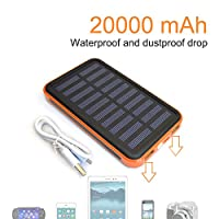 Solar Charger Power 20000mAh Outdoor Por...