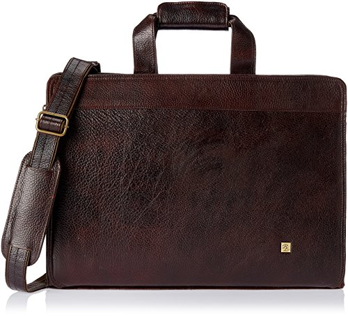 Walletsnbags Men's Leather Sleek Aristocrat Messenger Bag  Brown