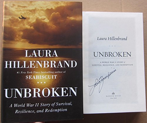Autographed Print (Louis Zamperini Signed Book Unbroken 1st Print Beckett BAS Authentic RARE)