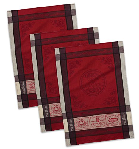 DII Cotton French Jacquard Dish Towels, 20x28