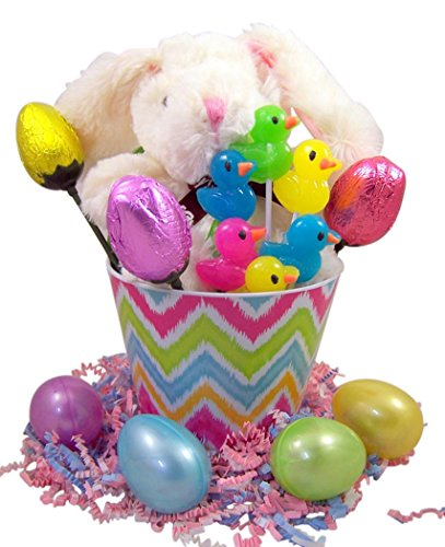 Stuffed-Easter-Bunny-Basket-with-Milk-Chocolate-Lillies-Sucker-and-Candy-Filled-Eggs