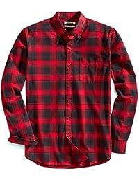 Men's Slim-fit Buffalo Plaid Oxford Shirt