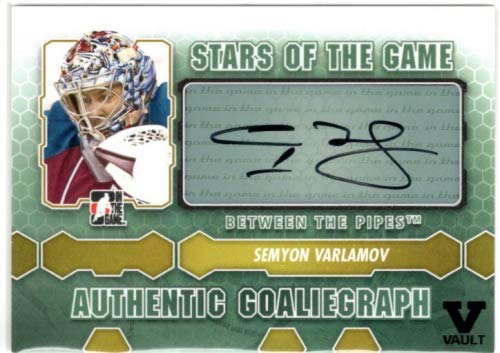 2012-13 Between The Pipes Autographs #ASV Semyon Varlamov SG SP From the Vault Version Autograph Card - Colorado ()