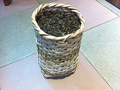 Pu Erh black tea unfermented, Grade A 2000 gram in bamboo basket packing by JOHNLEEMUSHROOM RESELLER