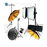 LimoStudio Photo Studio Monolight Flash Lighting Kit, Studio Flash/Strobe, Softboxes, Reflective Photo Umbrellas, Wireless Flash Trigger, Background Support System, Muslin Backdrop, AGG916V2