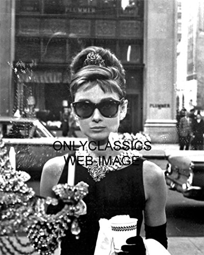 OnlyClassics 1961 Sexy Audrey Hepburn in Sunglasses Breakfast at Tiffany's 8X10 Movie Photo ()