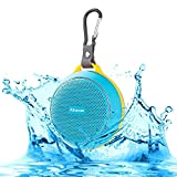 Ajusen Wireless V4.1 Bluetooth Speakers HD Powerful Surround Sound Waterproof Shockproof Ultra Portable Sport Speaker with Amazing Music Audio Effect for iPhone iPad HTC and more (blue)