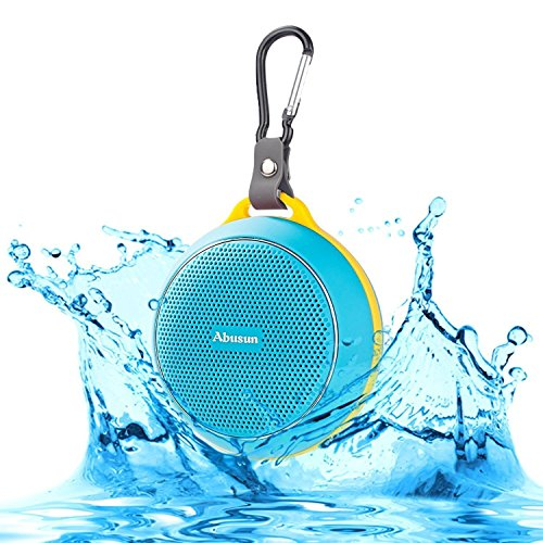 Ajusen Wireless V4.1 Bluetooth Speakers HD Powerful Surround Sound Waterproof Shockproof Ultra Portable Sport Speaker with Amazing Music Audio Effect for iPhone iPad HTC and more (blue) by AJUSEN