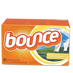 Bounce Fabric Softener Sheets - six boxes of 160 fabric softener sheets each.