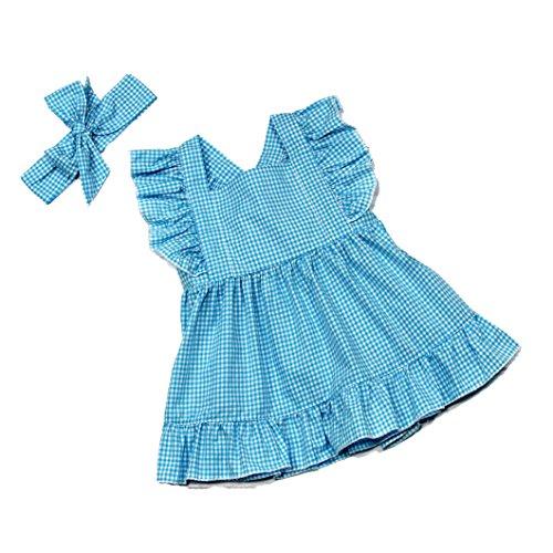 Wholesale Princess Dresses (Wholesale Princess Sleeveless Gingham Dress with Headband (6 / XXLG, Blue))