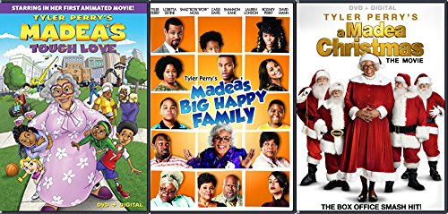 Tyler Perry's Madea's Big Happy Family - The Movie, Madea's Tough Love & Movie with Bonus A Madea Christmas The Movie 3-DVD Bundle