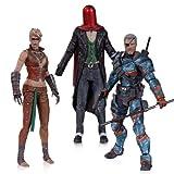 deathstroke action figure - DC Collectibles Batman: Arkham Origins: Copperhead, The Joker as Red Hood, and Deathstroke Unmasked Action Figure (3-Pack)