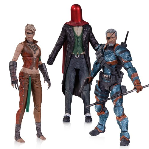 DC Collectibles Batman: Arkham Origins: Copperhead, The Joker as Red Hood, and Deathstroke Unmasked Action Figure (3-Pack) for $<!--$69.95-->
