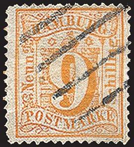 Goldhahn Hamburg Nr. 18 gestempelt Briefmarken für Sammler