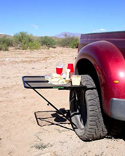 Dropship TGMESH TailGater Tire Table Vehicle Tire-Mounted Steel Camping Travel and Outdoor Work Table Tailgater Tire Table