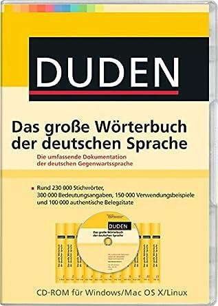 Duden Das Grosse Worterbuch Der Deutschen Sprache Dudenredaktion Amazon De Software