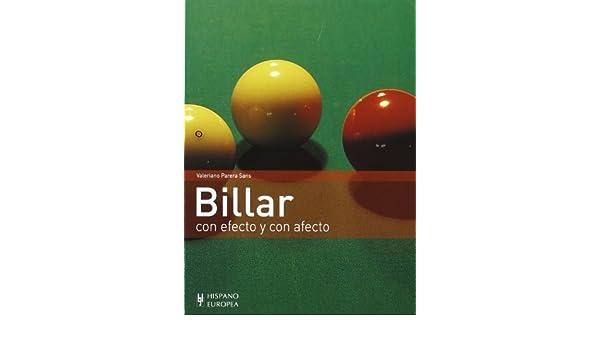 Billar. Con efecto y con afecto Spanish Edition by Valeriano ...