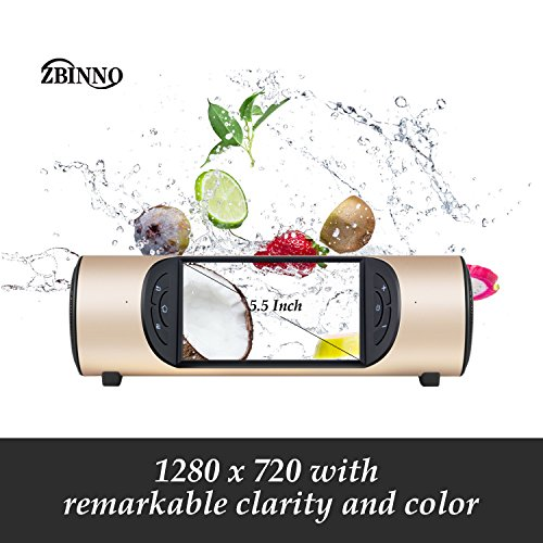 Portable WiFi TV , WiFi Speaker,Tablet ,Music player ,WIFI Internet radio with Amazing Super Deep Bass , Touch Screen and Voice control by OK Google for Indoors and Outdoors,Miro by ZBINNO (GOLD) by ZBINNO