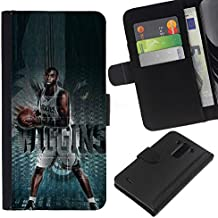 OREGON-X Terrific Front Picture Leather Card Slots Pouch Wallet Protection Hard Case Black Cover For LG G3 D855 D850 D851 - BASKETBALL WOLVES WIGGINS