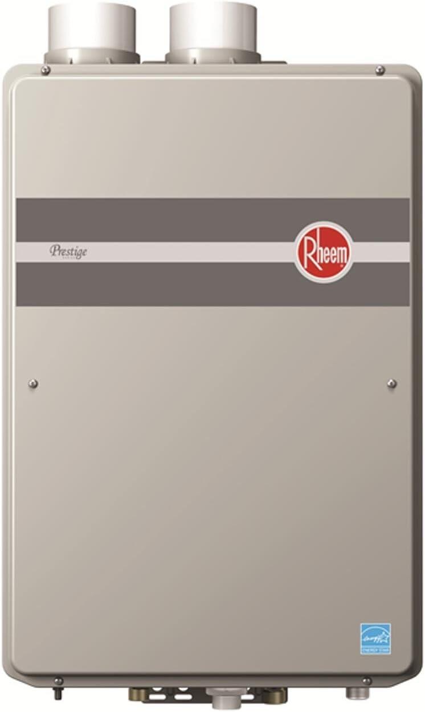 Rheem RTGH-90DVLN Prestige Indoor Condensing Ultra Low NOx Natural Gas Tankless Water Heater, 9.0 GPM,