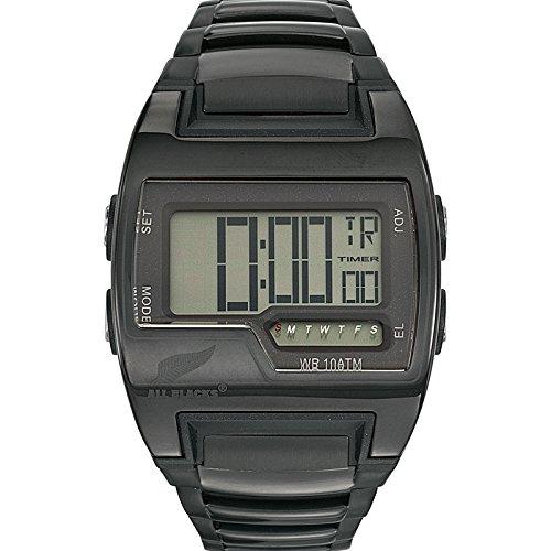 All Blacks - Reloj de cuarzo para hombre, correa de metal color negro