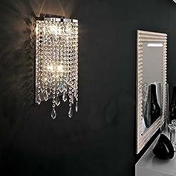 Interior Lighting SILJOY Modern Elegant Crystal Wall Sconce Contemporary Wall Light for Bedroom Entryway Living Room modern wall sconces