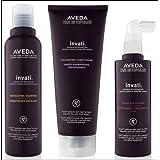 Aveda Invati Shampoo 6.7 oz Conditioner 6.7 oz Scalp Revitalizer 5 oz