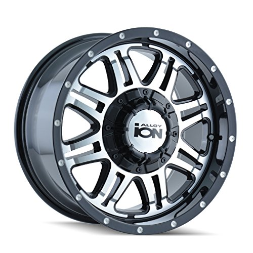 Ion Alloy Style 186 Black Wheel with Machined Face (17x8