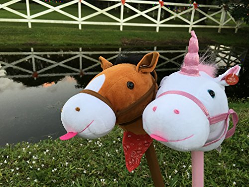 WALIKI TOYS Stick Horse (plush with Sound, for kids and toddlers)