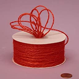 Red Jute Twine, 2mm X 100Yd