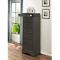 Mayville Stained Gray Lingerie Chest w/Hidden Drawer by Homelegance