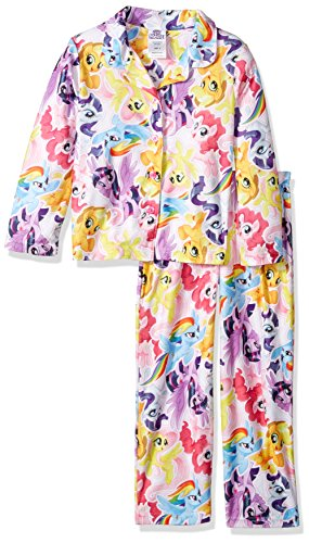 My Little Pony Little Girls' 2-Piece Pajama Coat Set, Pony Mashup, 6]()