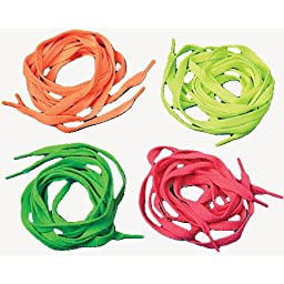 Neon Shoe Laces - Pack of 12