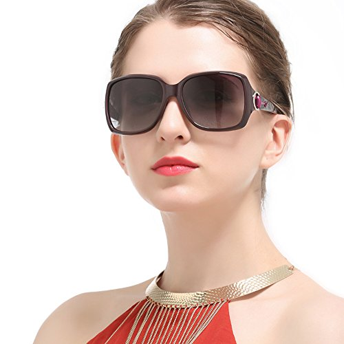 para UV De Fashion Black Beach Conducir Travel Brass 400 Fashion Aviator Marco Metal ZDQ Sunglasses Polarized Women Protegido nFBqHx1vw